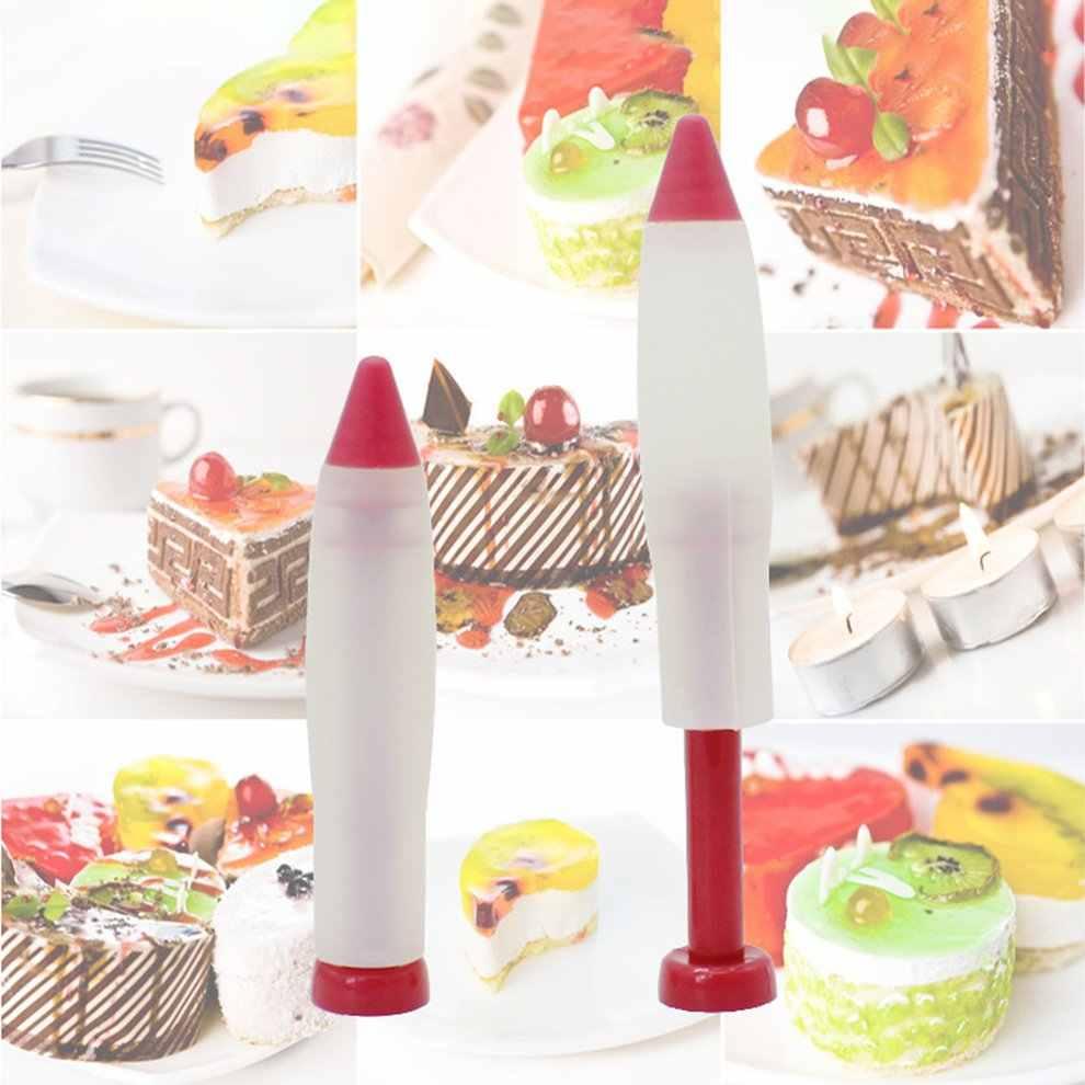 Diy Food Grade silikonowe czekoladowe pióro do pisania oprawione kwiat wyciskania sos pióro ciasto dekoracyjne pióro