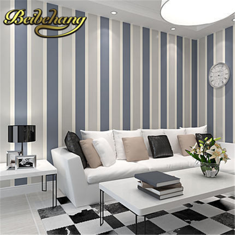 beibehang Non-woven vertical stripes 3D mural modern minimalist living room TV backdrop papel de parede,3d wallpaper,wall paper beibehang mediterranean blue vertical stripes wallpaper minimalist living room background wallpaper modern den papel de parede