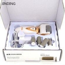 Инструмент для ухода за ногами с 5 роликами, уход за кожей ног, удаление омертвевшей сухой кожи, электрический пилочка для ног, удалитель мозолей для потрескающихся пяток, кутикулы