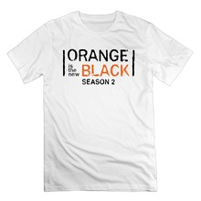 T-Shirt Short Sleeve Fashion Tshirt Men's Orange Is The New Black Cotton Short Sleeve T Shirts