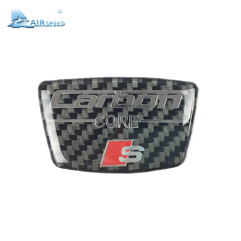 Airspeed S Line Carbon Fiber Car Stickers Door B Column Decoration Sticker for Audi A3 A4 B6 B7 B8 B5 A6 C5 C6 Q5 Q7 Car Styling custom fit full cover car floor mats for audi a6 c5 c6 c7 a4 b6 b7 b8 allroad avant all weather waterproof car styling liners