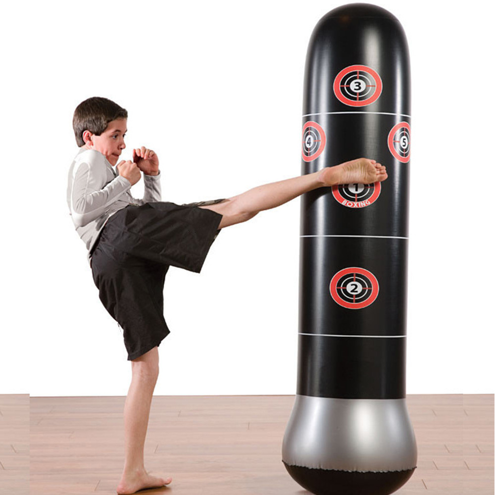 1.6m Boxing Punching Bag Sport Toys Fitness Adult Children Inflatable Vertical Column Tumbler Inflatable Sandbags Venting Toys