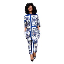 Summer Traditional African Clothing 2 Piece Set for Women