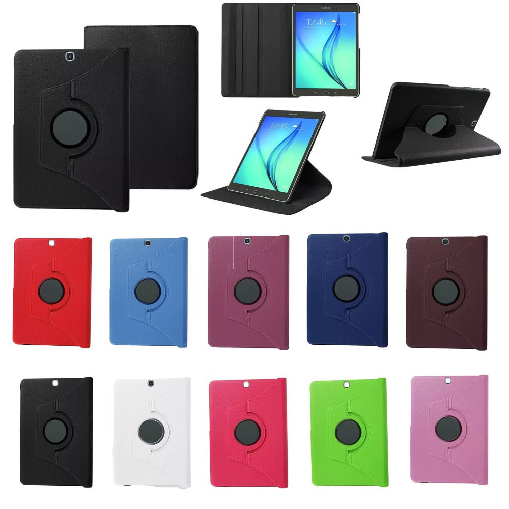 PU Leather 360 Rotating Smart Cover Folio Stand Tablet Case Cover for Samsung Galaxy Tab S2 9.7 SM-T810 T815 w/Stylus Pen case for samsung galaxy tab a 9 7 t550 inch sm t555 tablet pu leather stand flip sm t550 p550 protective skin cover stylus pen