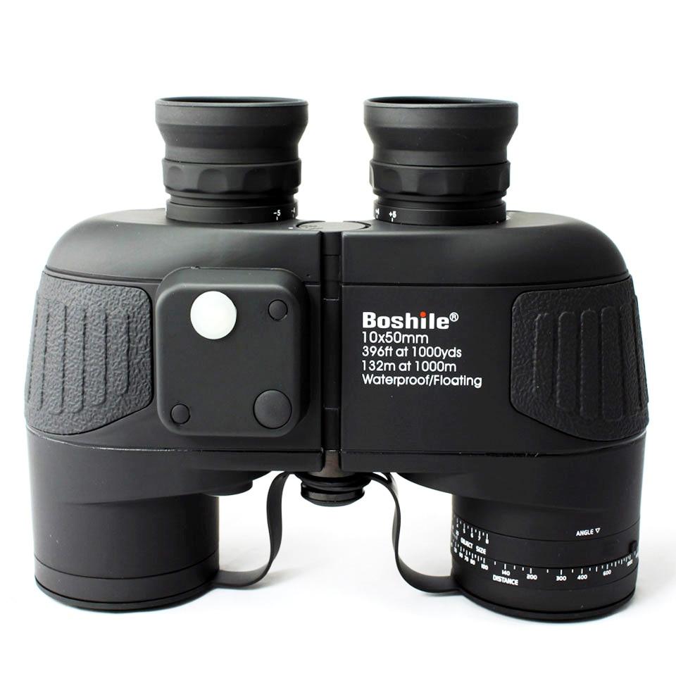 Военный охотничий HD морской бинокль boshile 10X50 Zoom дальномер компас телескоп окуляр водостойкий азот bak4 черный