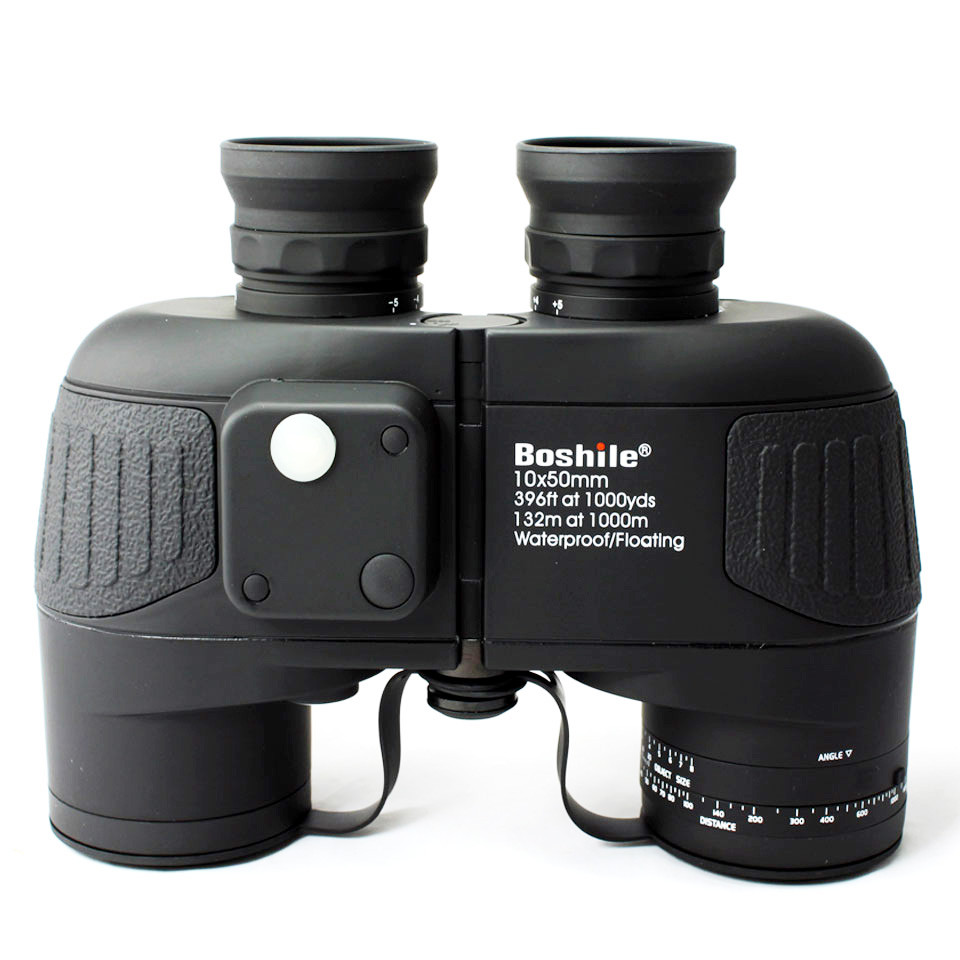 Military hunting HD Marine Binoculars boshile 10X50 Zoom Rangefinder Compass Telescope Eyepiece Waterproof Nitrogen bak4 black military waterproof binoculars boshile 10x50 navy telescope binocular with rangefinder and compass fully multi coated lens bak4