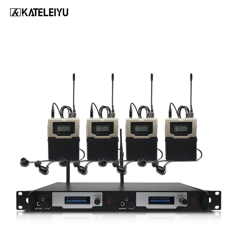 Ear monitor wireless system with 4 receivers EM5810 In stage monitor Ear 2 Channel Monitoring in ear system peruvian 13 4 ear to ear lace frontal closure with bundles 2 3 4 lot deep curl100