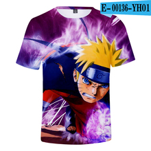 Naruto T Shirt Japanese Cartoon Anime Tops Men Printed T Shirts Costume Anime T-Shirts Men Tshirt Cartoon Clothes 3D Clothes цена
