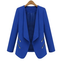 Cozy Women OL Long Sleeve Slim Lapel Blazer Suits Jackets Casual Open Coats Blazers Outwear Terno 3 Colors