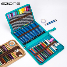 EZONE 36/48/72 Hole Pencil Case Canvas Curtain High Quality School Office Supplies Stationary Bag Student Gifts Papelaria