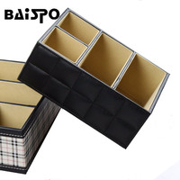 High Quality Luxury PU Leather Jewelry storage box Remote Control Phone Holder Home Office Organizer Toy Storage Boxes