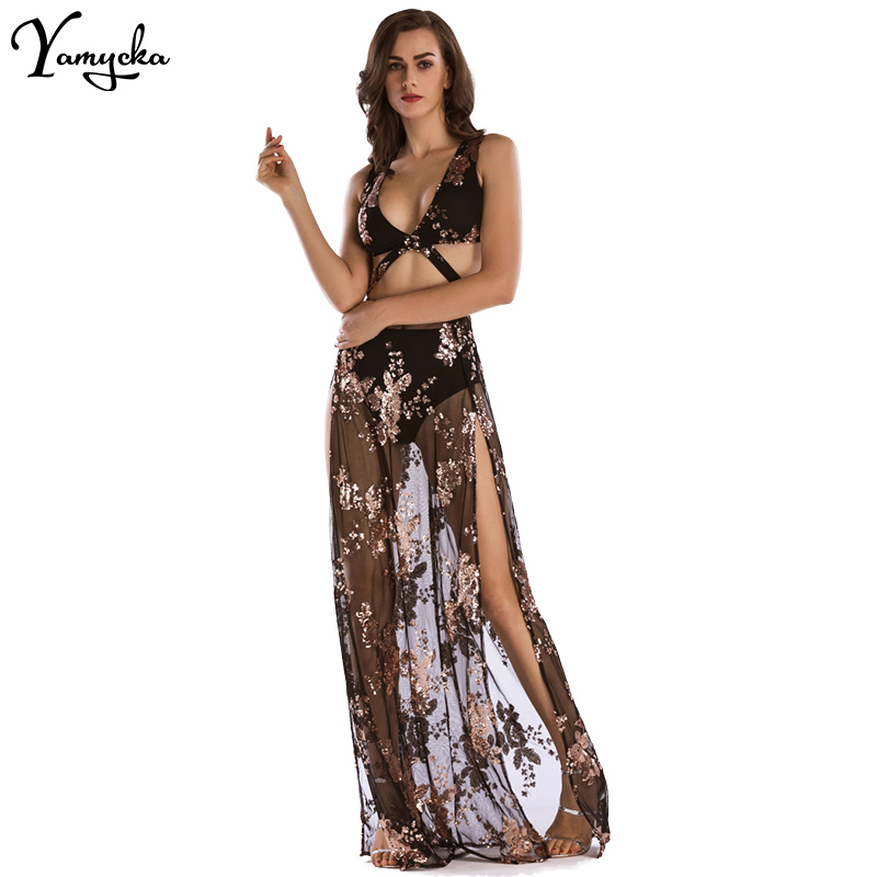 9515b75ee11a1 High Quality Womens Dress Summer 2018 Sexy V-Neck Backless Women ...