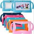 6 colores grandes orejas de seguridad serie suave cubierta de gel de silicona case para Q88 universal para 7 Pulgadas Kids Niños Libros electrónicos Tablet PC