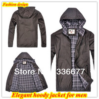 Wholesale Free Shipping New Arrival Classic Fit Casual Spring Autumn Winter Zipper Hoody Jacket For Men