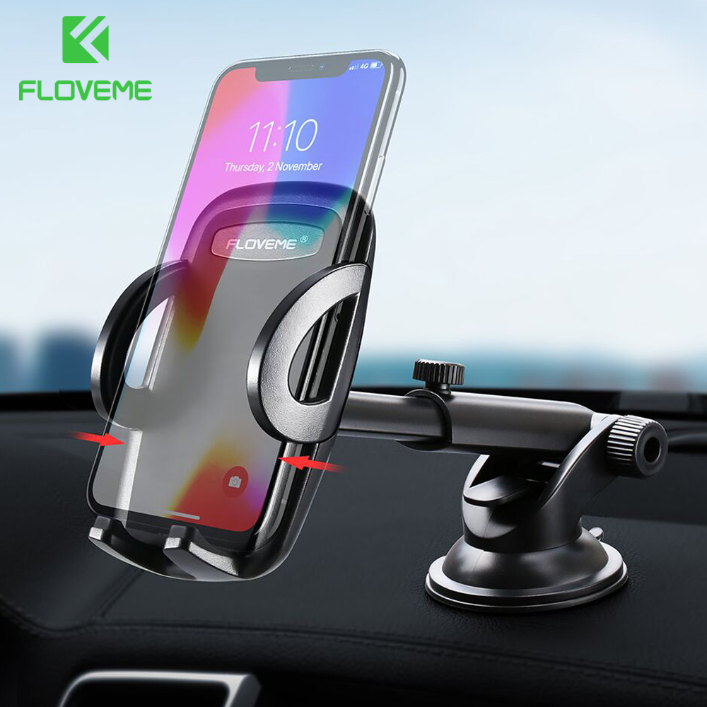 FLOVEME Universal Dashboard Windshield Car Phone Holder 360 Rotate Adjustable 3.8-6.5 inch Mobile Phone Holder For Smartphone   FLOVEME Universal Dashboard Windshield Car Phone Holder 360 Rotate Adjustable 3.8-6.5 inch Mobile Phone Holder For Smartphone
