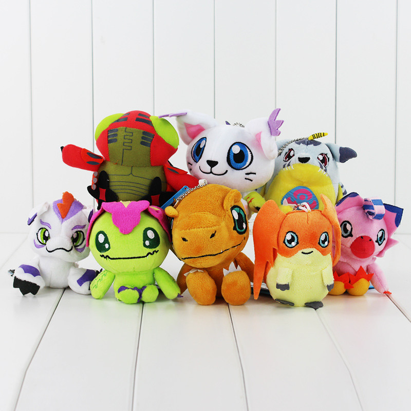8 Styles 10CM Digimon Plush Toys Gabumon Agumon Gomamon Piyomon Palmon Patamon Soft Plush Toy With Keychain Kid Dolls Gift8 Styles 10CM Digimon Plush Toys Gabumon Agumon Gomamon Piyomon Palmon Patamon Soft Plush Toy With Keychain Kid Dolls Gift