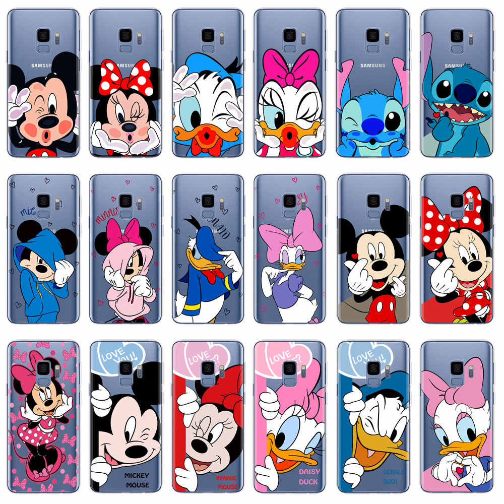 Mickey Minnie Case Voor Coque Samsung Galaxy A5 2017 A520 A6 A8 Plus 2018 S6 S7 Rand S10 S8 S9 plus TPU Zachte Siliconen Telefoon Cover