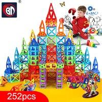 New 252pcs Mini Magnetic Designer Construction Set Model Building Toy Plastic Magnetic Blocks Educational Toys For