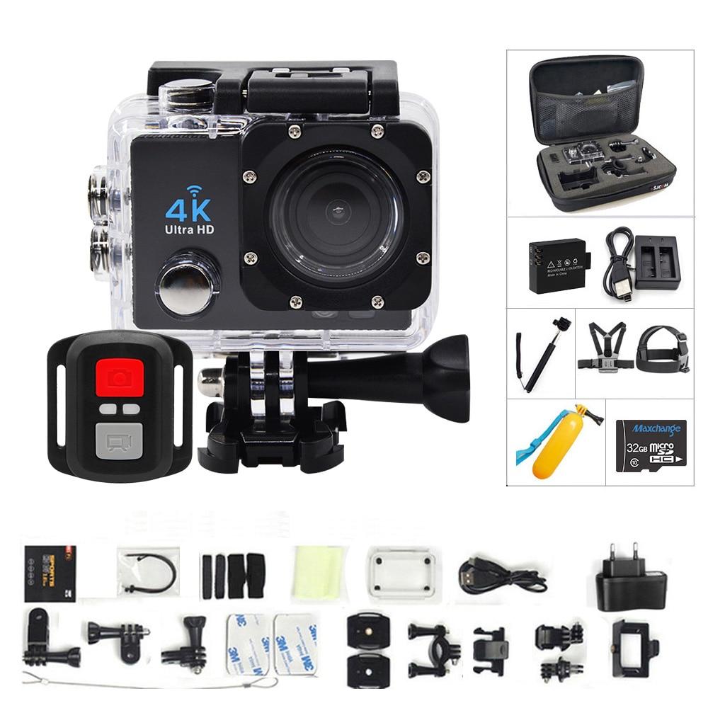 Qriginal hero Action caméra 4 K/30FPS Ultra HD WIFI 1080 P/60fps 170 lentille plongée étanche 30M go DV casque caméra sport pro 4/7