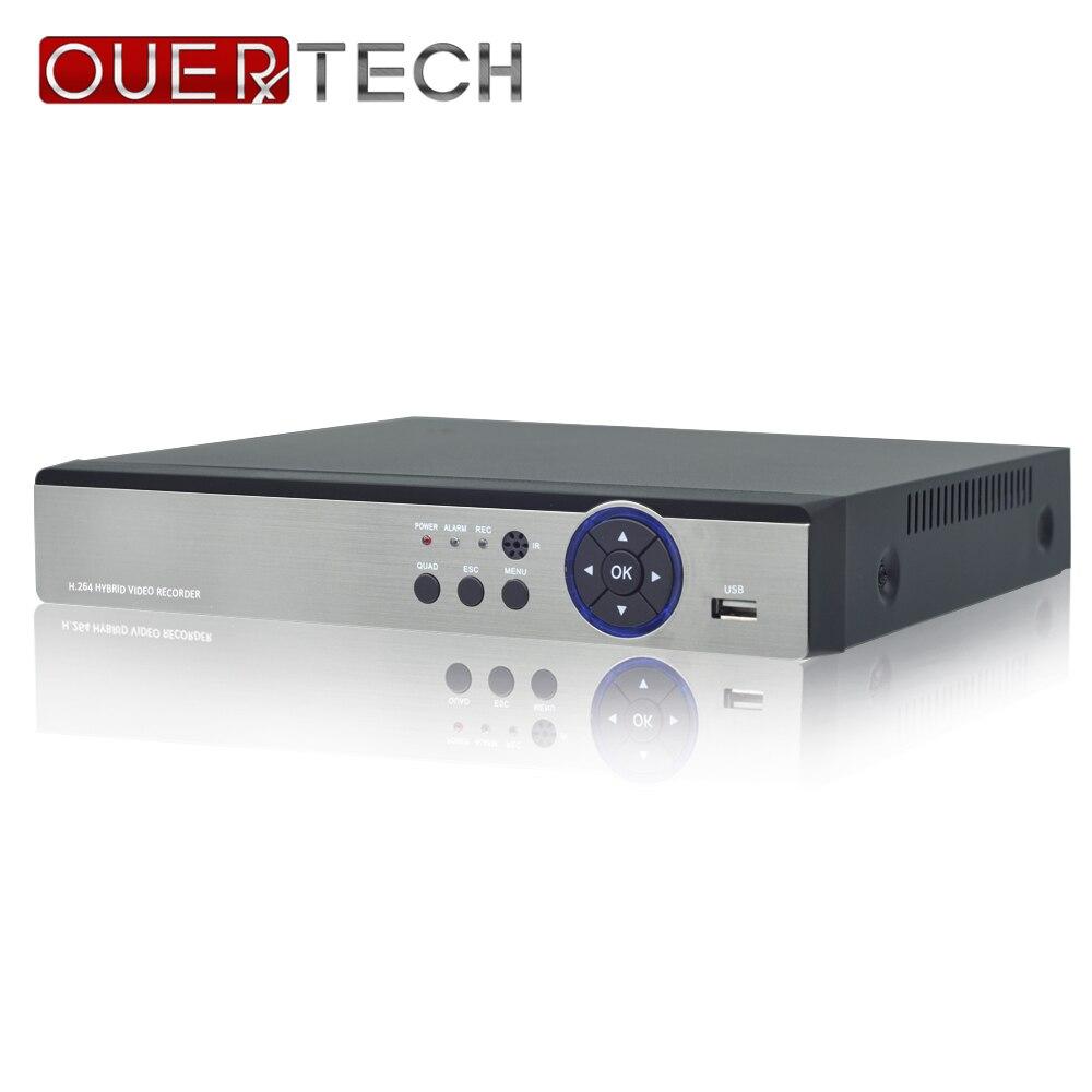 OUERTECH AHD CVI TVI IP CVBS 5 in1 4CH/8CH/16CH 4 Megapixels 4M-N DVR 4CH RCA Audio IN Support 1 SATA HDD Surveillance CCTV DVR
