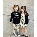 New 2016 baby girls dresses cloud&lightning knee Length full cotton dress kids children casual dress clothes