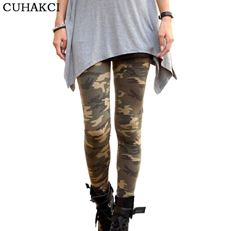 CUHAKCI 2017 New Brands Women   Leggings   High Elastic Skinny Camouflage   Legging   Spring Autumn Leggins Slimming Women Leisure Pant