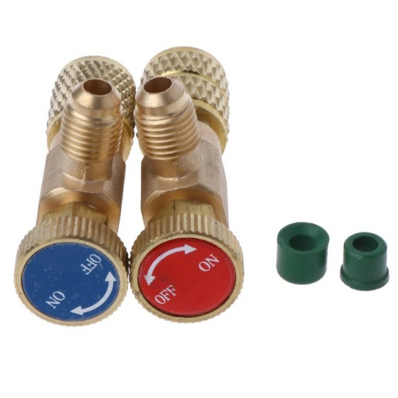 1pc R410A Refrigeration Air Conditioning Charging Valve Adapter Mayitr 1/4