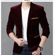 2018 New Arrival Luxury Blazer Men Spring Fashion Brand Quality Cotton Slim Fit