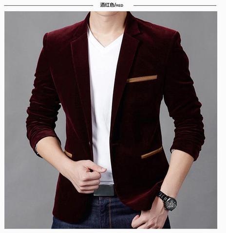 Blazer dos Homens Marca de Moda de Luxo Qualidade do Algodão dos Homens Chegada Nova Primavera Slim Fit Men Suit Terno Masculino Blazer 2020