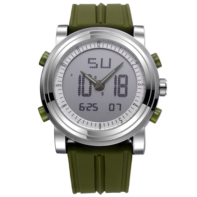 SINOBI Sports Chronograph Men's Wrist Watches Digital and Quartz Boys Military Diving Watchband Top Luxury Brand Male Clock 2016
