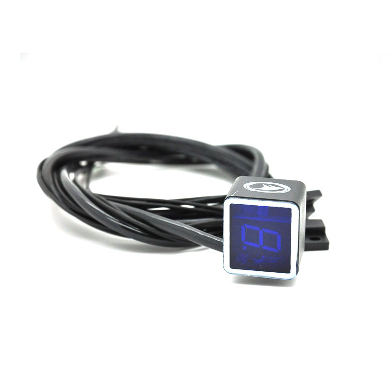 Digital LED Gear Indicator For Motorcycle Light Neutral Display Shift Lever Sensor Bule Color Motocicleta Accessorie