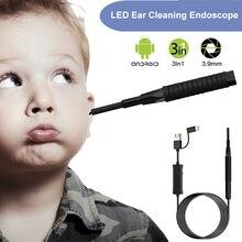 หูกล้อง 3 ใน 1 3.9 มม. antscope 1280x720 ความละเอียดหูทำความสะอาดหูช้อน Boresco USB กล้อง Endoscope ยืดหยุ่น endoscope