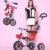 Buena absorción de choque plegable andador triciclo niño traje para un máximo de dos años de edad del bebé doble freno andador