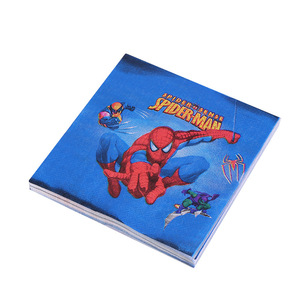 Image 5 - 90pcs Super Hero Spiderman Disposable Tableware set Cups Paper plate Napkin Straws For 20 Kids Girl Birthday Party supplies