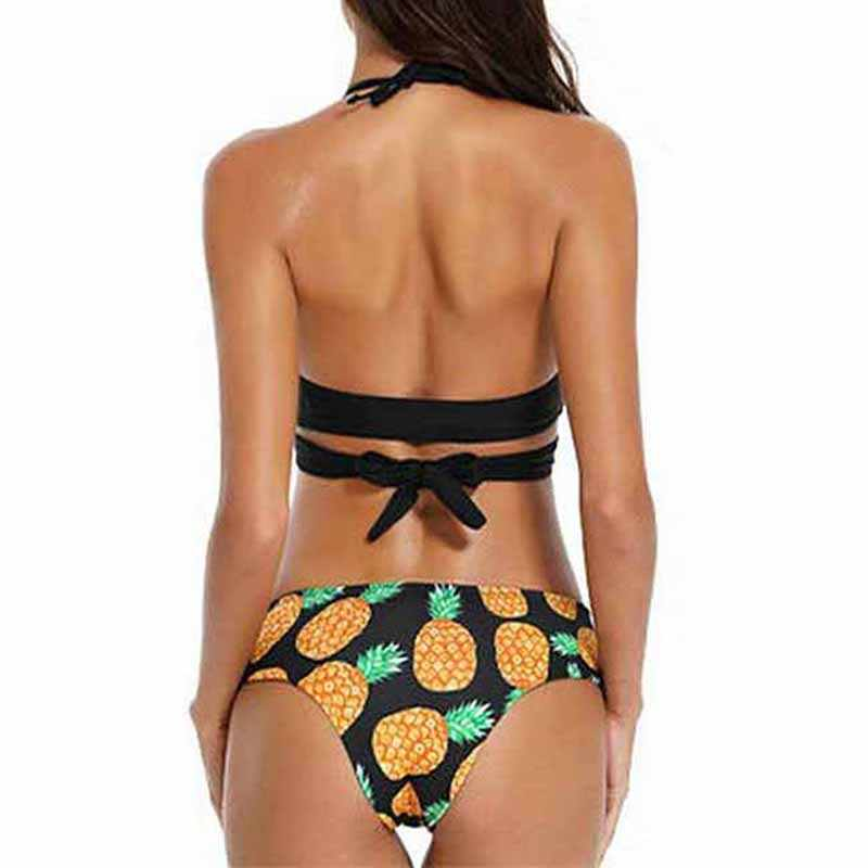 2020 Sexy Bikini mujer traje de baño Push Up traje de baño vendaje Halter Bikini Set playa traje de baño brasileño Biquini