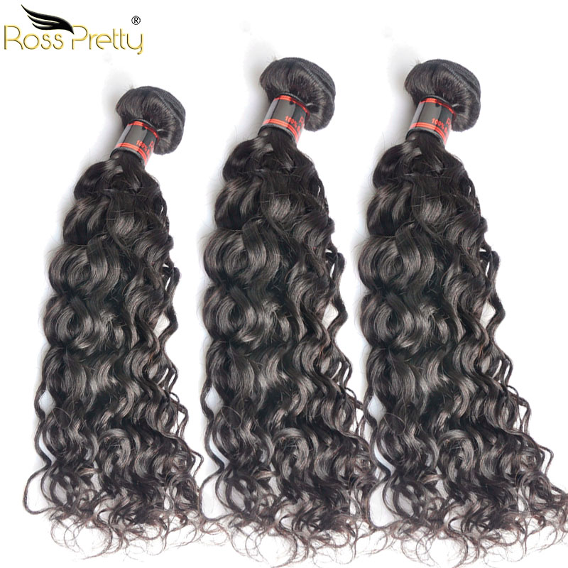 Natural Wave Hair Ross Pretty Brazilian Remy Hair weft Unprocessed Human Hair weaving High Quality Remy Hair Product 3bundles