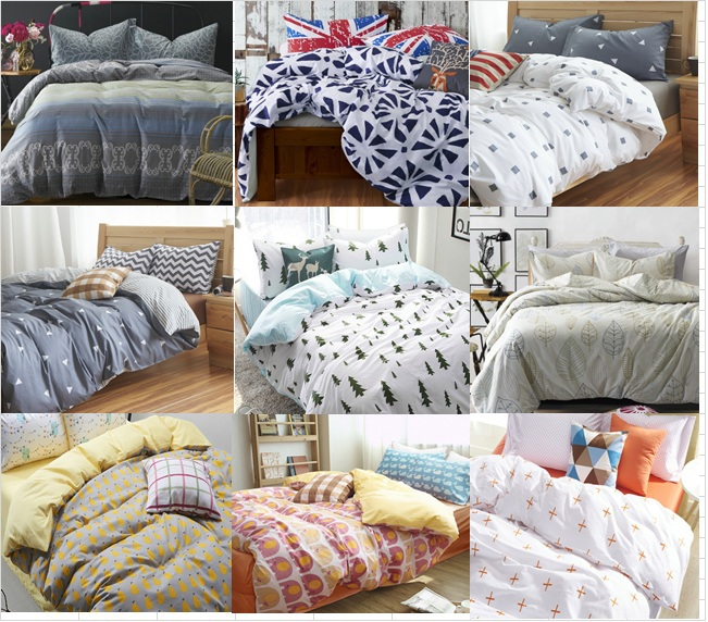 Hot sale cotton simple european style grey white yellow for European beds for sale