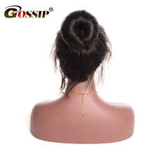 Gossip Lace Front Human Hair Wigs For Black Women Malaysian Silky Straight Hair Wigs 8″-24″ Pre Plucked Swiss Lace Wig Non Remy