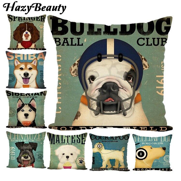 Model Style Dog Cat Fashion Cushion Pillowcase Cotton Linen Decorative Pillows Use For Home Sofa Car Office Almofadas Cojines