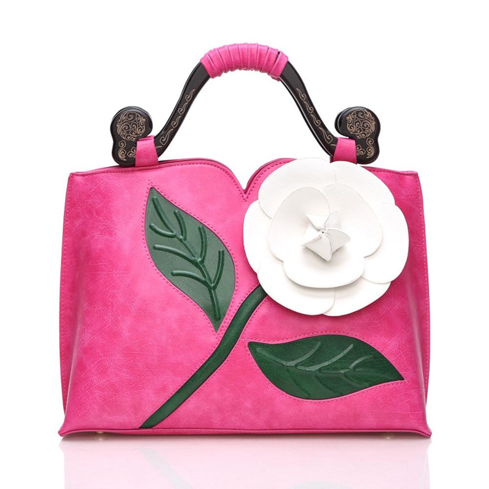 Gran bolso de flores color de rosa Bolsos de las mujeres Bolso de - Bolsos - foto 5