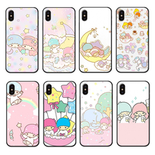 Little Twin Stars Phone Case for iPhone 6 6s 7 8 Plus X XR XS Max Anime Fairy Tale Style Cover Silicone Cases