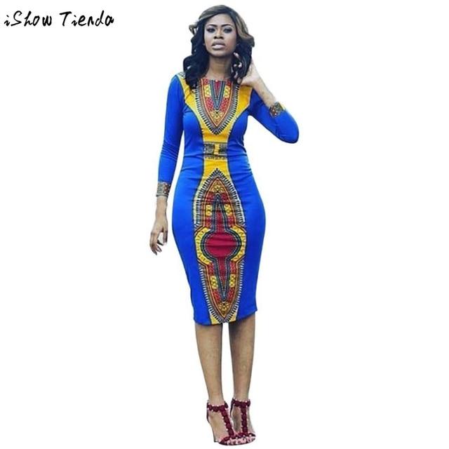 Африканские Женская Одежда Геометрические Печати Африканских Dashiki Платье Женщин Юп Africaine Femme #2802