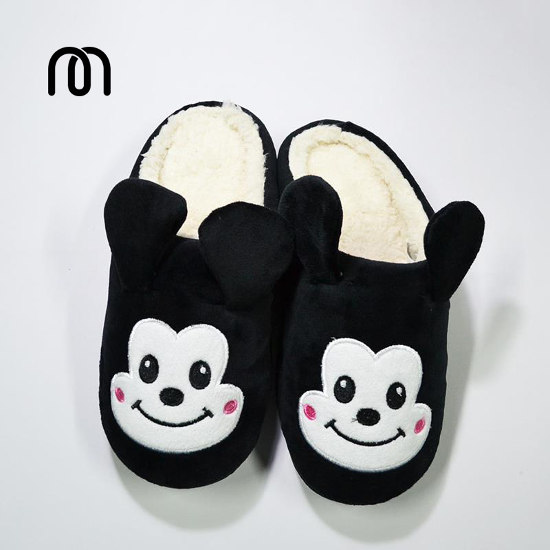 huge selection of 2018 sneakers cheap US $9.99 |Millffy lovely mickey mens slippers chaussons hiver femme Minnie  bathroom slippers women indoor slippers-in Slippers from Shoes on ...