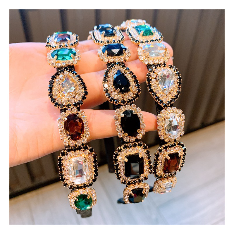 Colorful Rhinestone Baroque Hair Bands for Women Crystal Hair Accessories Super Flash Headband for Girls Hairband Luxury Jewelry