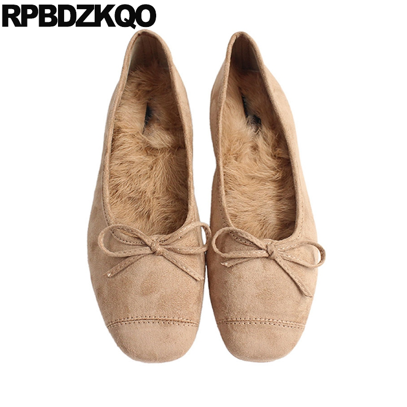 Women Ballet Flats Sweet Bowtie Slip On Pointed Toe Folding Shoe Comfortable Moccasins Casual Shoes