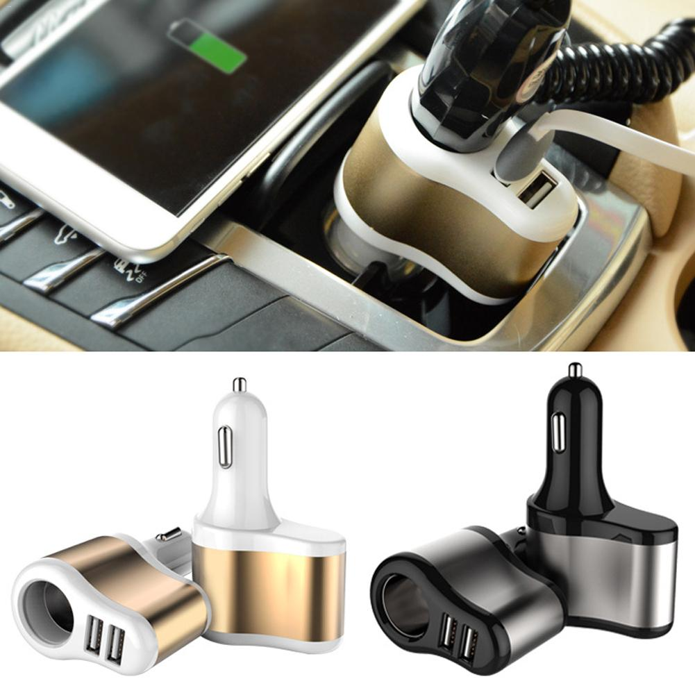 Dual USB Cigarette Lighter Car Charger 1-for-2 Multi-functional Mobile Phone Car Universal Smart Car Charger