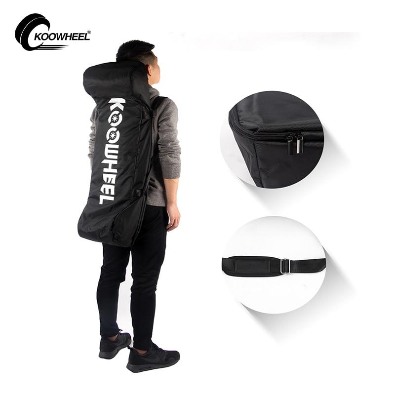 Sac de planche à roulettes électrique Koowheel 4 roues sacs à dos d'épaule Longboard sacs de transport en toile noire avec cordon