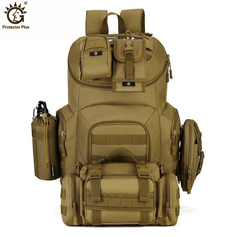 40l militar tático mochila à prova dwaterproof água molle assalto pacote mochila militar para caminhadas ao ar livre acampamento caça