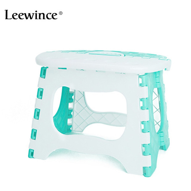 Leewince Plastic foldable bathroom small stool, children's outdoor portable Chair Camping Picnic Step Stool Load-bearing 40kg