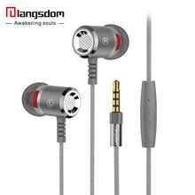 Metal langsdom m400 alta calidad super bass auriculares auriculares auriculares para la computadora del teléfono mp3 auriculares de alta fidelidad 3.5mm originales